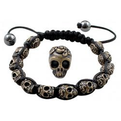 Antique Alloy Skull Bracelet Fits Lovely on Any Wrist - Various Colours