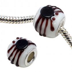Murano Glass Spider Charm Bead Compatible for Pandora Bracelet