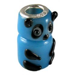 Murano Glass Panda Bead Charms - Fits Pandora & Troll Bracelets - Various Colours