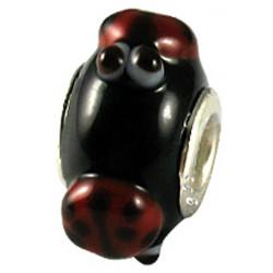 Murano Glass Lady Bird Bead Charms - Fits Pandora & Troll Bracelets - Various Colours