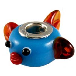Murano Glass Fish Bead Charms - Fits Pandora & Troll Bracelets - Various Colours