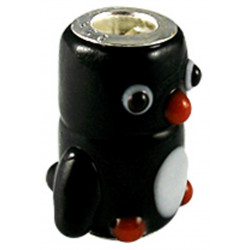 Murano Glass Penguin Bead Charms - Fits Pandora & Troll Bracelets - Various Colours