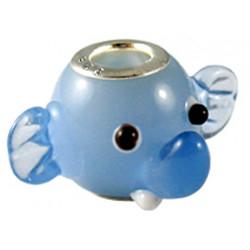 Murano Glass Elephant Head Bead Charms - Fits Pandora & Troll Bracelets - Various Colours