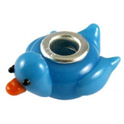 Murano Glass Duck Bead Charms - Fits Pandora & Troll Bracelets - Various Colours