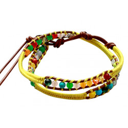 Colourful Handmade Beaded Fashion Bracelet - Various Colours