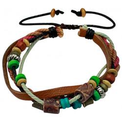 Multi Strand Handmade Fashion Bracelet - Various Colour Beads