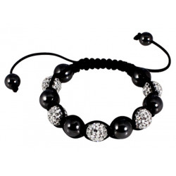 Shamballa Unisex Friendship Bracelets with CZ Crystals Bead - Various Colours