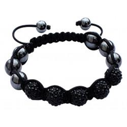 Shamballa Bracelet with CZ Crystal Ball Fits Lovely on Any Wrist