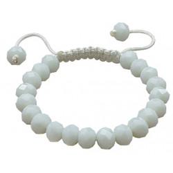 Shamballa White Crystal Ball Adjustable Fits Lovely on Any Wrist