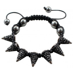 Spike Bracelet with CZ Crystal Bling Bling Fits Lovely on Any Wrist - Various Colours