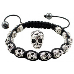 Antique Alloy Skull Bracelet Fits Lovely on Any Wrist - Various Colours