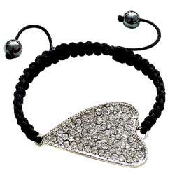 Bling Bling Bracelet Heart Design with CZ Crystals  Fits Lovely on Any Wrist