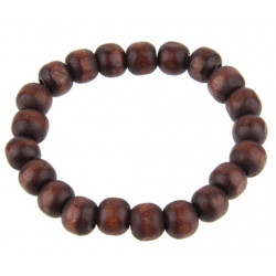 Wooden Tibetan Buddha Beads Stretchable Bracelet - Various Style Beads