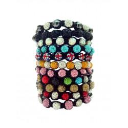 Shamballa 10PCS Bracelets - Assorted Randon Design/ Colours - Great Deal for Christmas