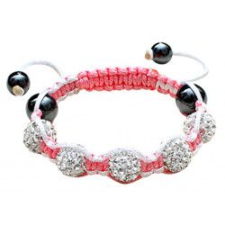 Shamballa Bracelet For Children with CZ Crystal Disco Ball - Various Colours