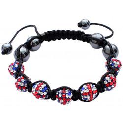 "Shamballa Bracelet with Union Beads  - Adjustable Size Fits 7"" To 9"""