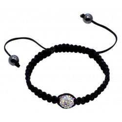 Shamballa Friendship Braided Bracelets with CZ Crystals - Various Colours