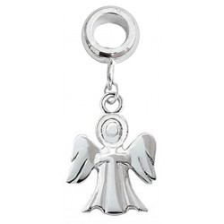 Silver Charm Bead Guardian Angel Compatible for  Pandora All Types Bracelet