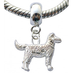 Silver Charm Bead Dog Compatible for  Pandora All Types Bracelet