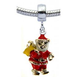 Alloy Charm  Santa Design for  Pandora Bracelets