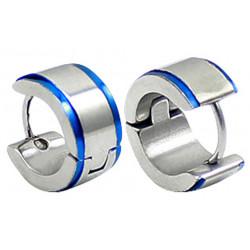 Stainless Steel Unisex Hoop Huggie Stud Earrings