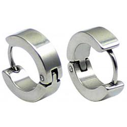 Stainless Steel Unisex Hoop Stud Earrings