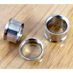 Double Flared Stainless Steel Eyelet Tunnel Ear Stretcher Plug - Expander Body Piercing - Quality tested at Sheffield Assay England