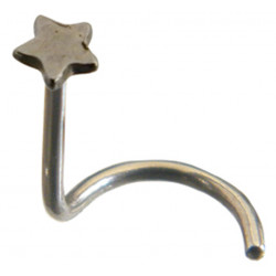 Nose Pins - Surgical Steel 316L- Twirl Nose Pins with Star Design