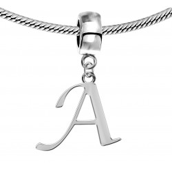 Silver Initials Charm for  Pandora and Troll Bracelet - Fits All Pandora Bracelets - Letters A to Z