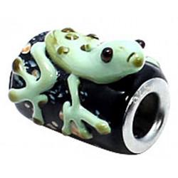 Murano Glass Frog Bead Charms - Fits Pandora & Troll Bracelets - Various Colours