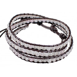 Colourful Handmade Fashion Strap Bracelets with 3 Layer Beads - Various Colours