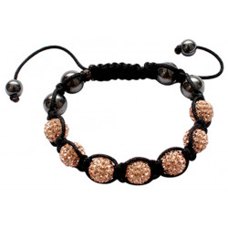 Shamballa Bracelet with CZ Crystal Ball Fits Lovely on Any Wrist - Various Colours