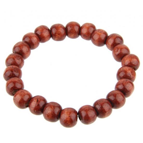 Wooden Tibetan Buddha Beads Stretchable Bracelet - Various Style Beads