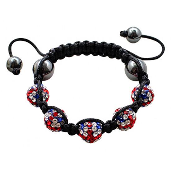 Shamballa Bling Bling Bracelet Made For Children - Various Colors