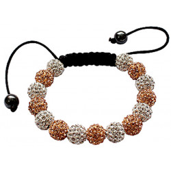 Bling Bling Shamballa Bracelet with Crystal CZ Fits Lovely on Any Wrist - Various Colours
