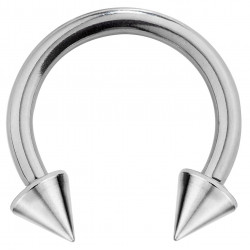 Surgical Steel Circular Barbell (CBB) Spike Piercing  1.2MM / 16G - Various Sizes