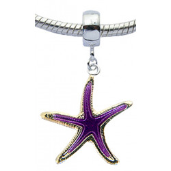 Starfish Charm Bead - Fits All Pandora Bracelet and Necklace