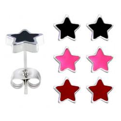 Hypo Allergic Plastic Post Star Stud Earrings