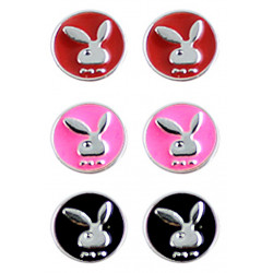 Set Of 3 Pair Stud Earrings with Bunny Design in 3 Different Colors