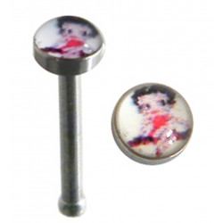 Surgical Steel Straight Nose Pins with Picture - Various Logos