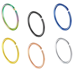 Surgical Steel 316L Open End Ring