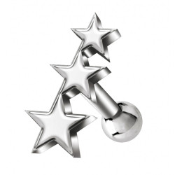 Surgical Steel 316L Star Barbell