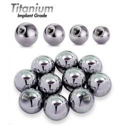 Implant Grade Titanium Threaded Plain Balls (10pcs)