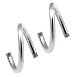 Surgical Steel 316L  Twisted Barbell Body parts (10pcs) - Quality tested by Sheffield Assay Office England