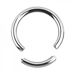 Stainless Steel Segment Ring - 2 Piece - In Silver or Black