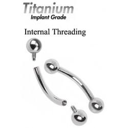 Bent Bar Titanium Internal Threading - Quality tested by Sheffield Assay Office England